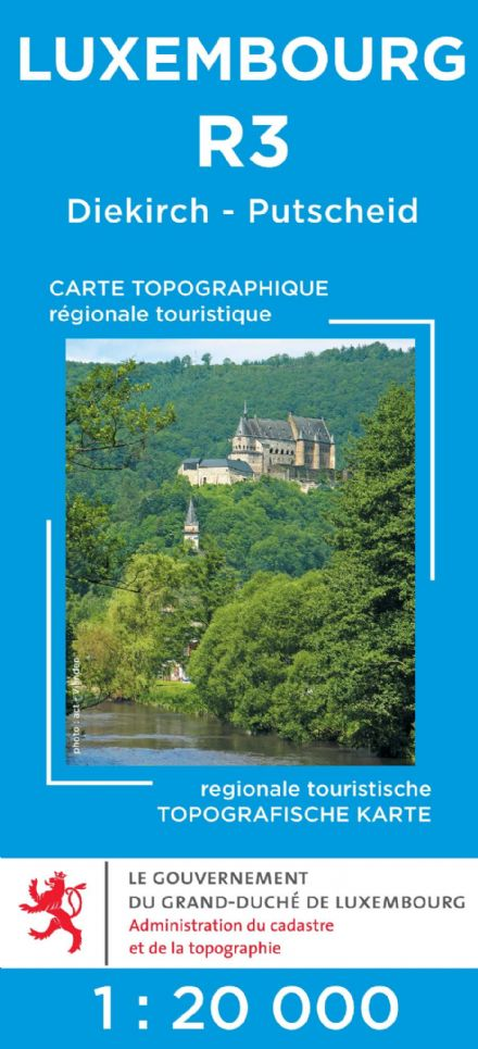 Luxembourg R3 - Diekirch - Putschaid Tourist Map